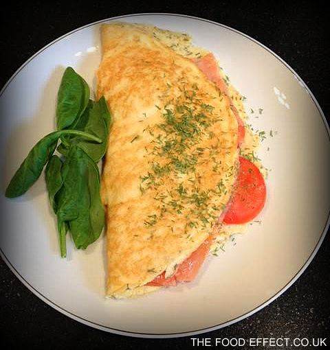 Smoked salmon omelette2